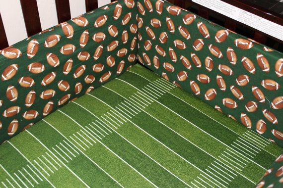 Custom Listingfootball Crib Bedding Ensemble By Designsbychristys 145 00