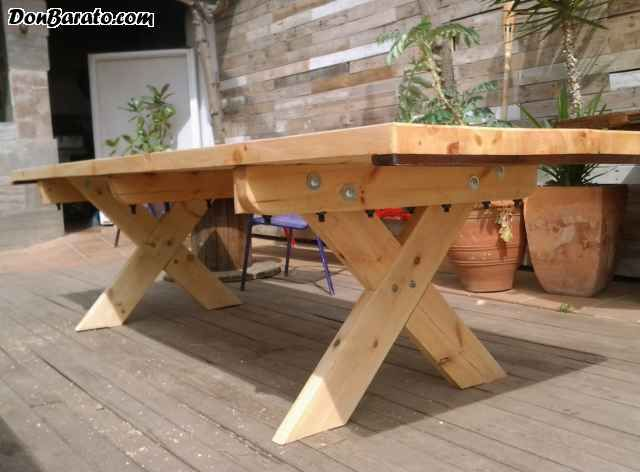 Mesas rusticas grandes bois pinterest mesas wood working and picnic tables - Mesa cocina rustica ...