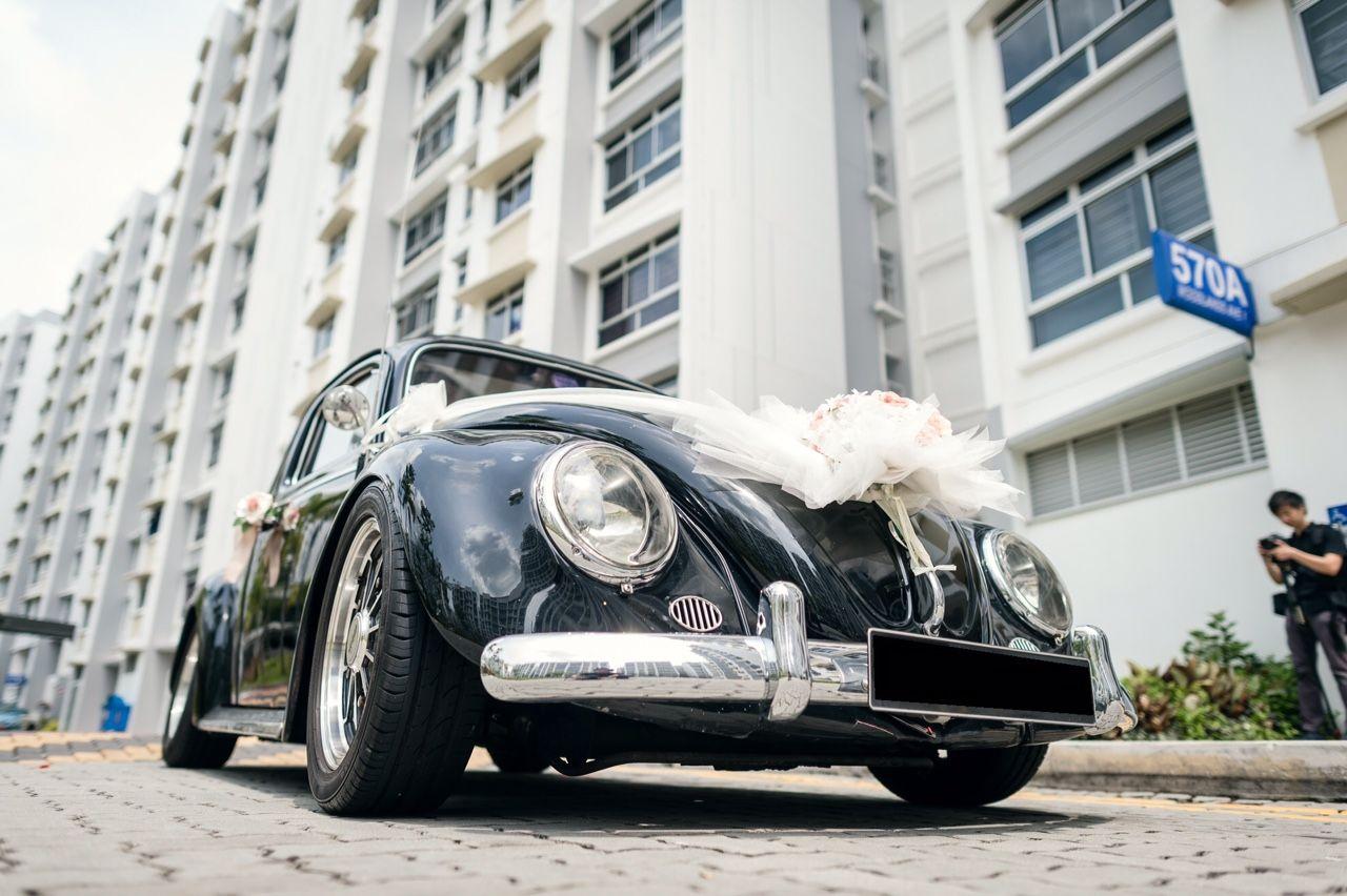 Rent Vintage Volkswagen Beetle Bridal Car for Wedding, Pre