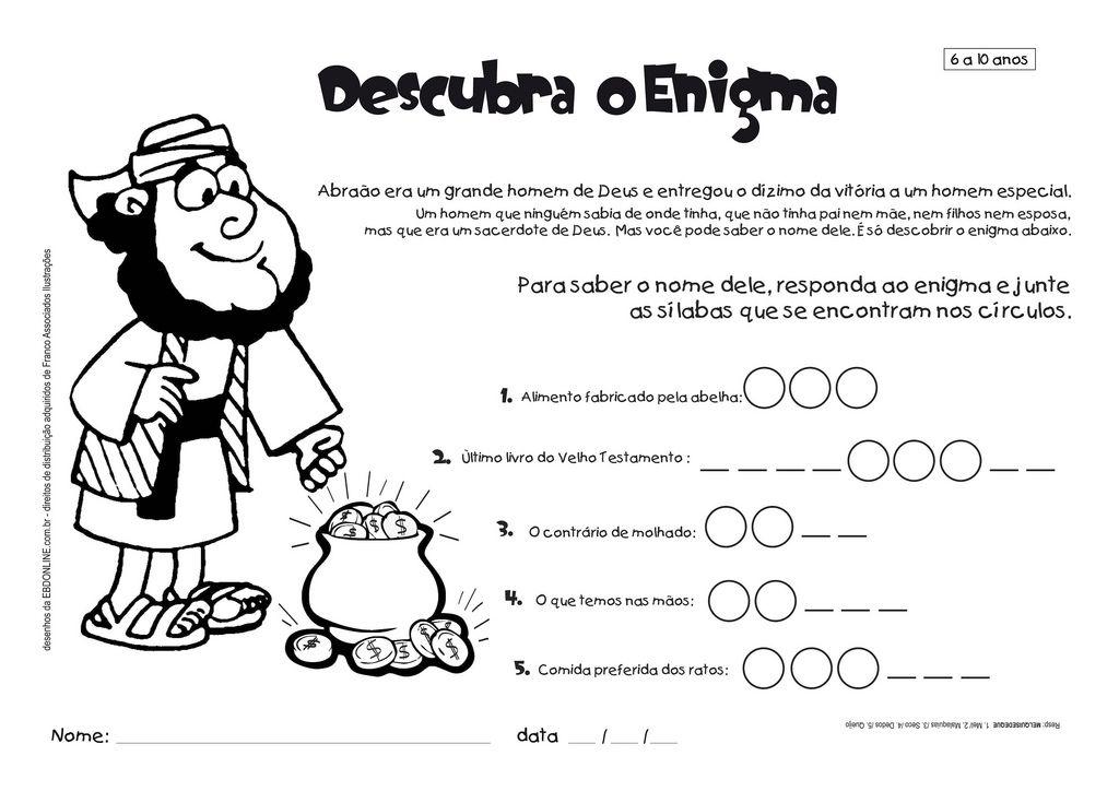 Favoritos brincadeiras bíblicas infantil - Pesquisa Google | Atividades  AS03