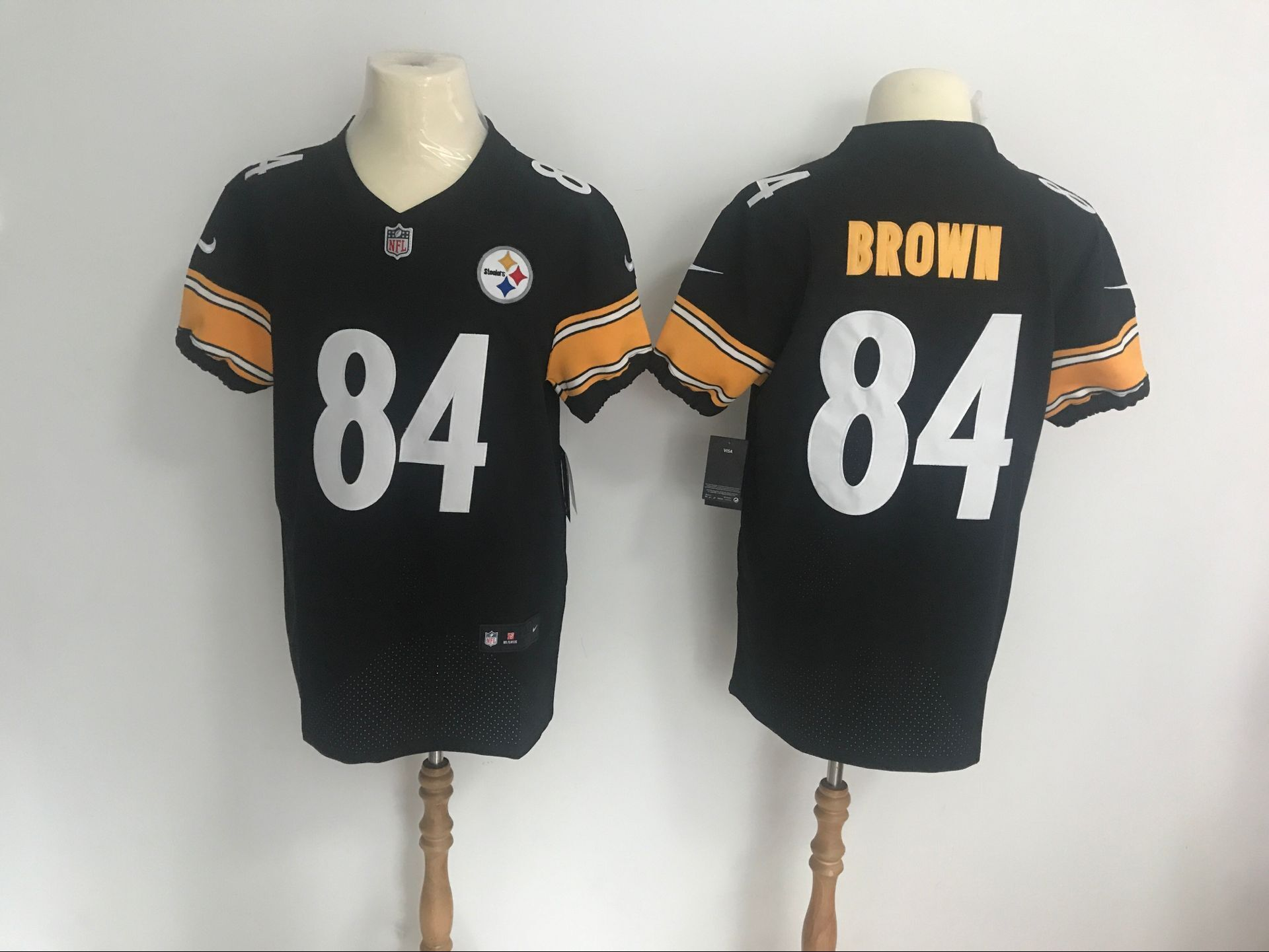 caf2a1c8f23  Pittsburgh  Steelers  84 Antonio  Brown Black Vapor Untouchable Player  Elite Jersey