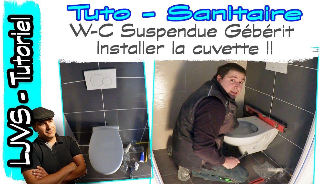 Changer Une Cuvette De Wc cuvette suspendue, installation complète - tuto sanitaire