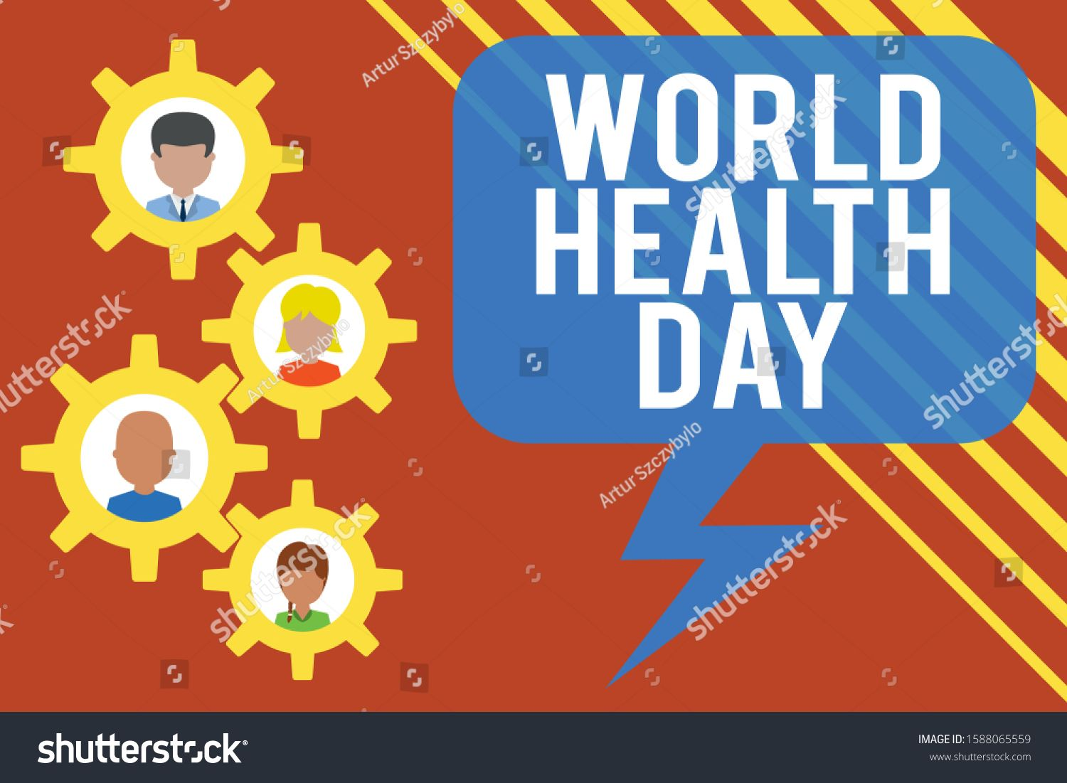 Handwriting text World Health Day. Concept meaning Global ...
