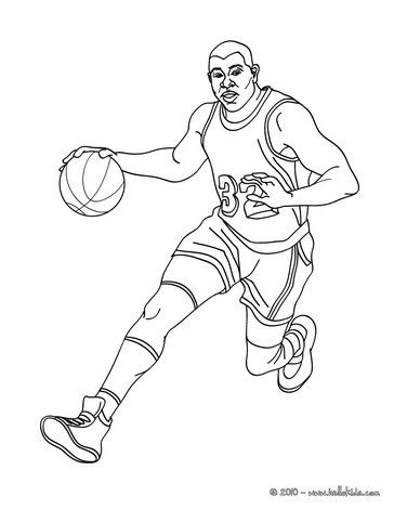 Magic Johnson Coloring Page From Basketball Coloring Pages More