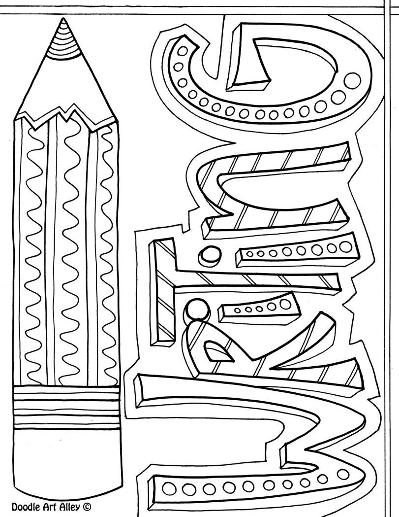 free writing printable from doodle art alley