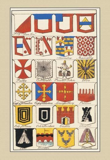 Heraldic Arms - Twemlow Mascally et al. 12x18 Giclee on canvas