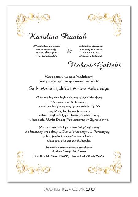 Zaproszenia Slubne Teksty Wedding