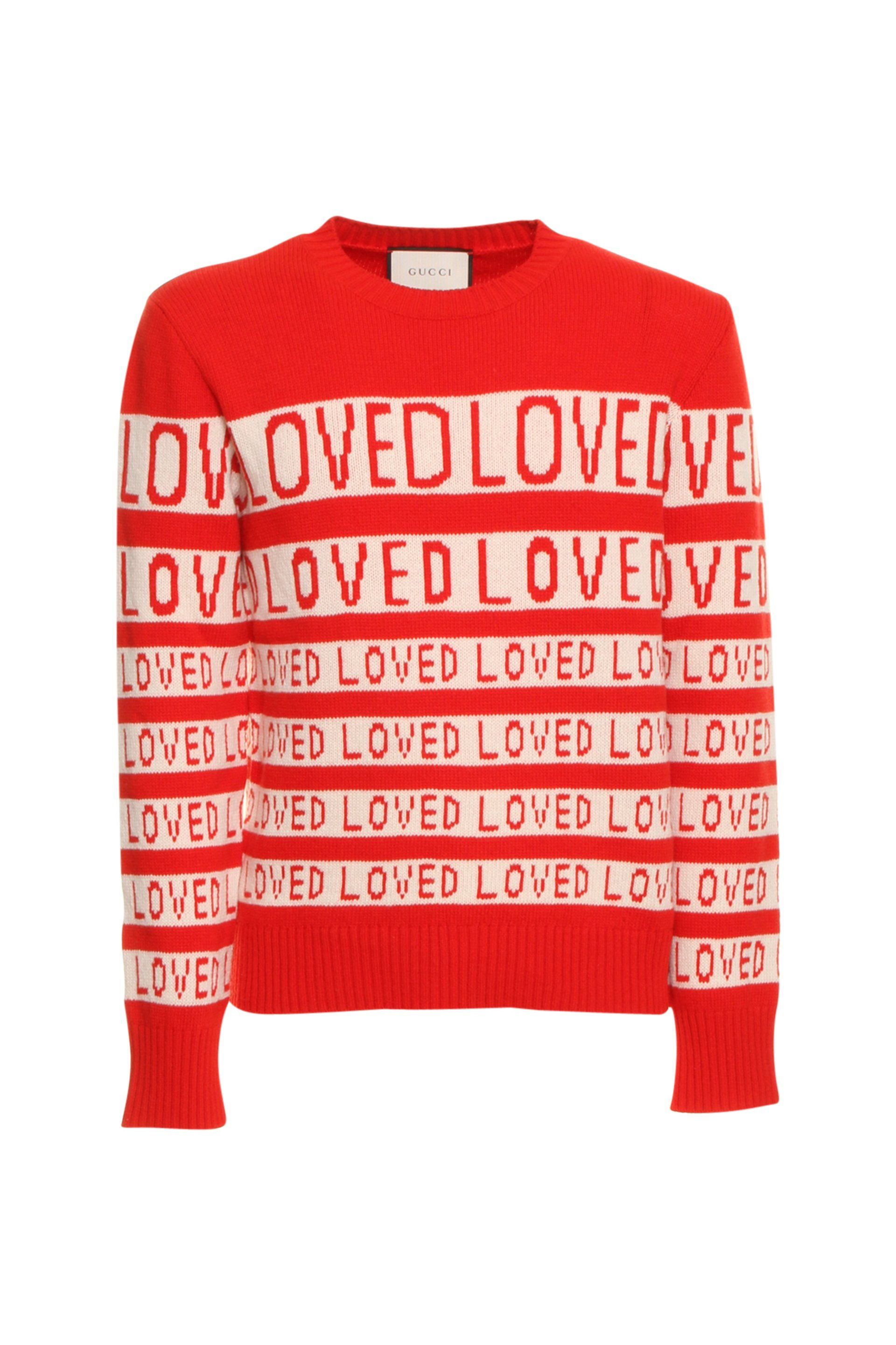c91130a956b GUCCI GUCCI LOVED KNITTED SWEATER.  gucci  cloth