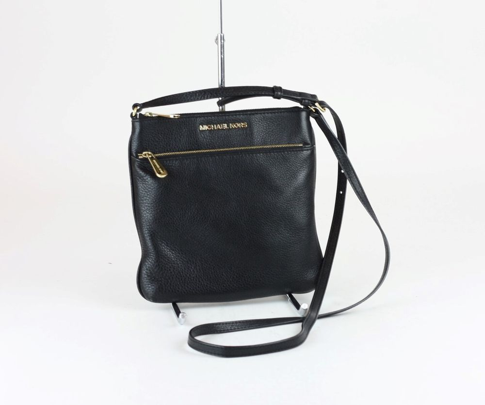 1fc4bec50dcc MICHAEL KORS Black Leather Riley Small Flat Crossbody Bag #MICHAELKORS # Crossbody