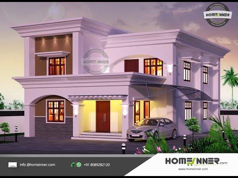 2182 Sqft Arabic Style 4 Bhk Villa Design Youtube House Front