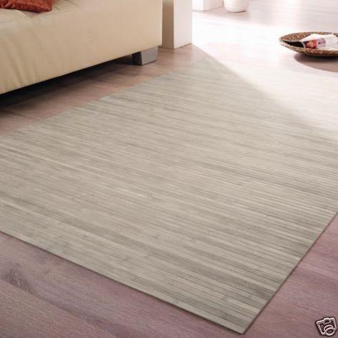 Details zu Bambusteppich, Teppich aus Bambus, STRIPES nature - wohnzimmer farben beige