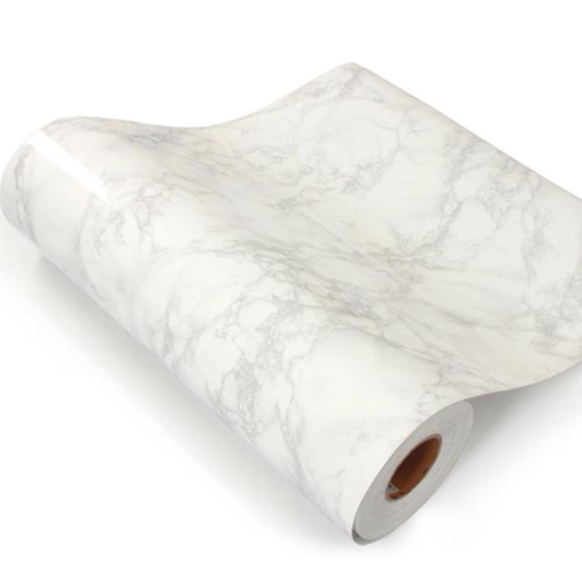 Instock Diy White Marble Waterproof Sticker Wallpaper Bnip Marble Wallpaper Bedroom White Marble Diy Marble Effect Wallpaper