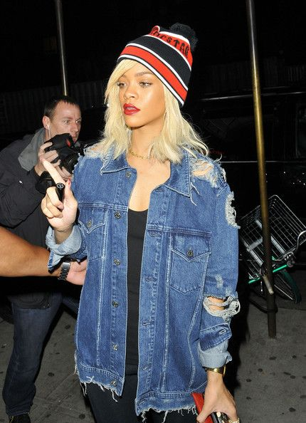47693bc03 Street Style: Denim Girls – Rihanna and Hanneli's Acne Jackets | I'm ...