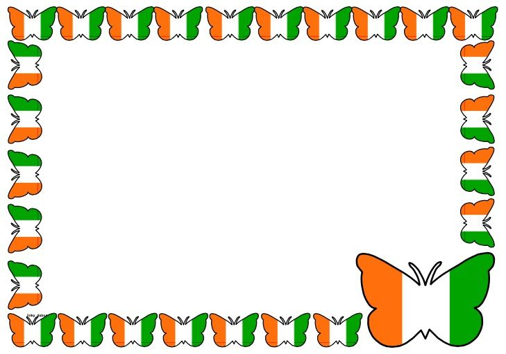 Ivory Coast Flag Themed Lined Paper and Pageborders Download the - lined paper with picture