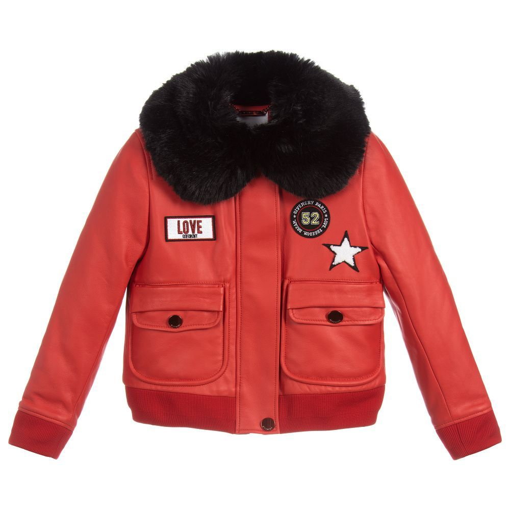 446efffb9 Girls Red Leather Jacket