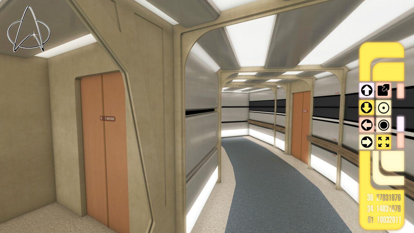 Corridor of USS Enterprise NCC1701 D Star Trek USS