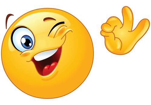Smiley Winking Ok Funny Emoticons Smiley Emoji Images