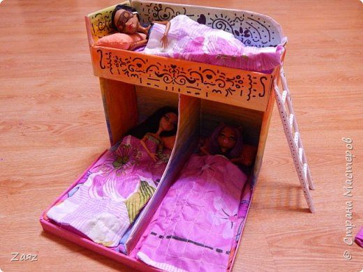 Кровать сделать своими руками для кукол