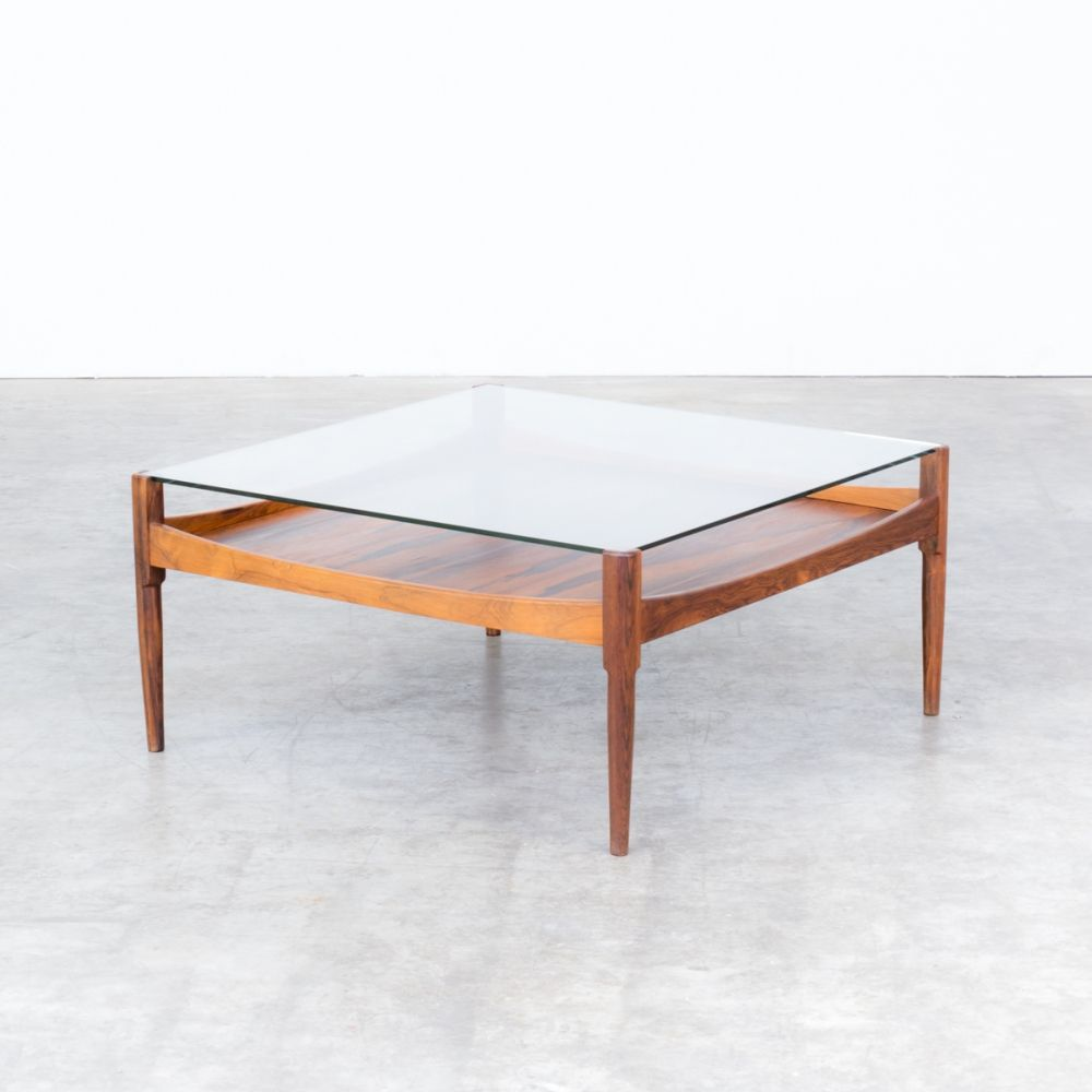 For Sale 60s Square Rosewood Coffee Table With Glass Table Top Coffee Table Glass Top Table Table