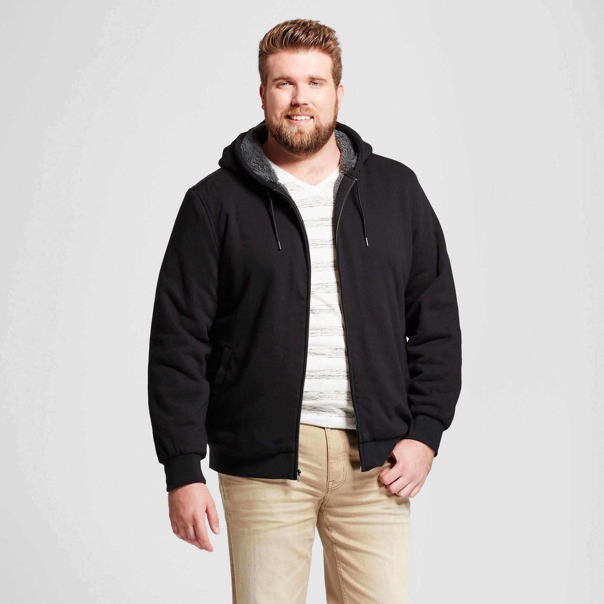 Men's Big & Tall Standard Fit Sherpa Fleece Jacket