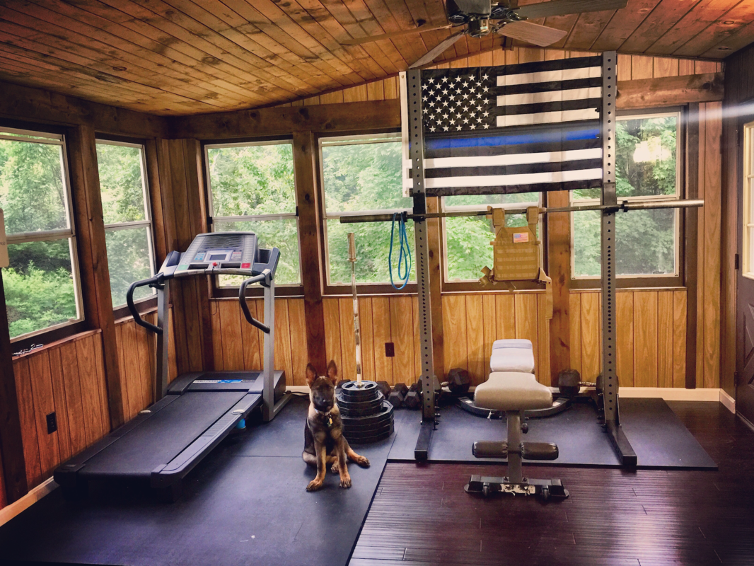 The vacation home gym. The basics are often all that are ...