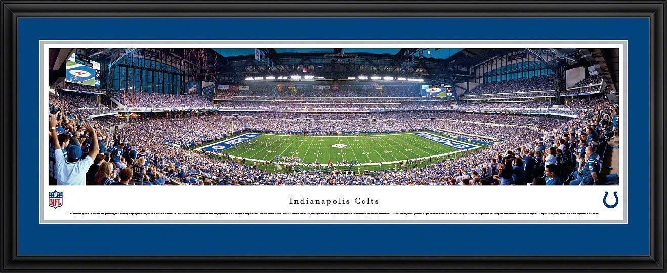 Indianapolis Colts Panoramic - Lucas Oil Stadium Picture Framed ...