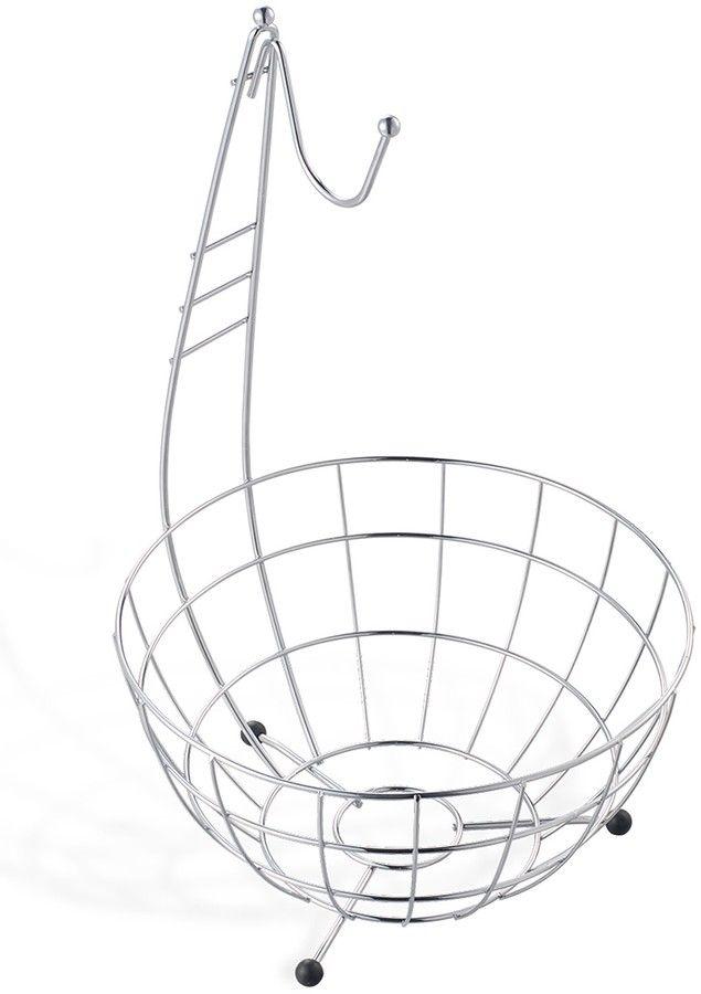 Euroware Banana Hanging Chrome Fruit Basket