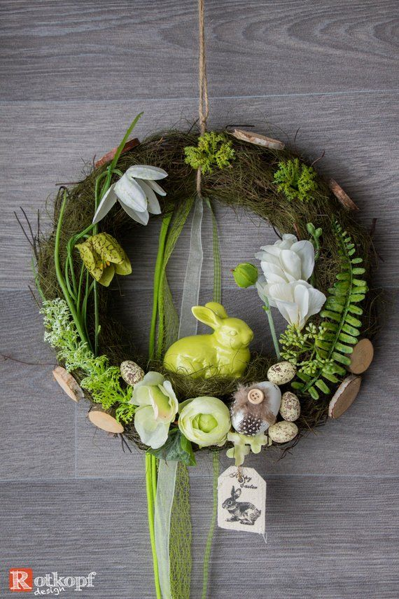 Photo of Door Wreath Spring Easter Easter Decoration Wall Wreath 26/20