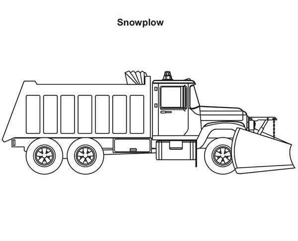 Trucks 2 Axle Snow Plow Coloring Page Jpg Snow Plow Truck