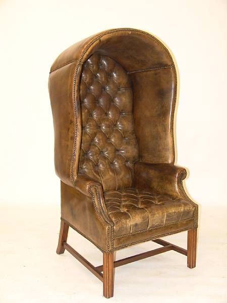 Leather Button Upholstered Porters Chair At Bonhams I Knew I Had Porteru0027s  Chairs On My Blog