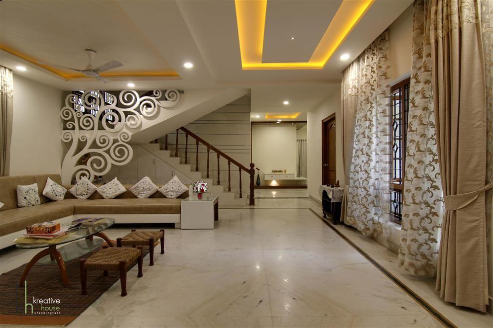 Shri Kameshwar Rao S Residential Interiors Living Room Duplex | Duplex Living Room With Stairs | Modern | Single Room | Duplex Step | Indoor | Balcony