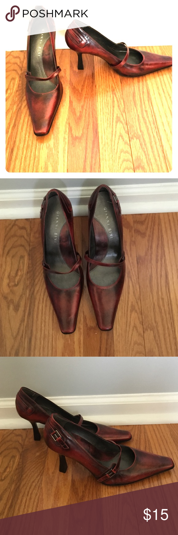 Gianni Bini red Mary Janes Red Mary Janes size 6.5, rarely worn and in great condition. Gianni Bini Shoes Heels