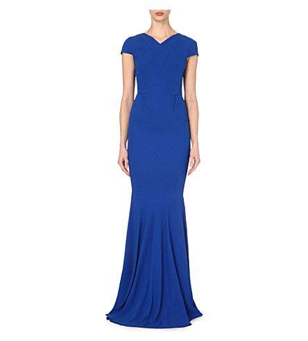ROLAND MOURET Valey Crepe Gown. #rolandmouret #cloth #dresses