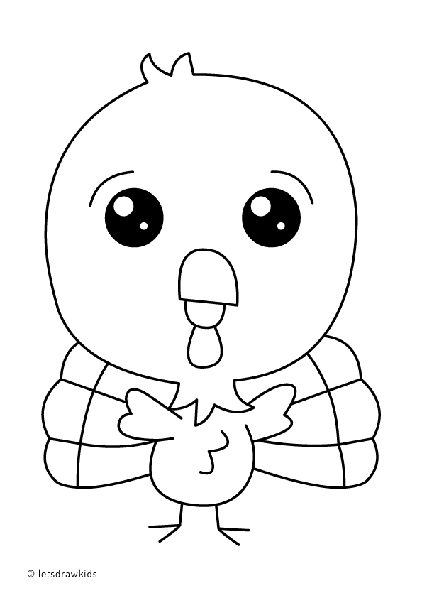 baby thanksgiving coloring pages | Coloring page for kids - Baby Turkey. Learn how to draw ...