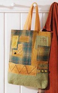 Patchwork Wool Bag by Rebekah Meier Craftideas.com