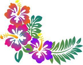 Hibiscus Flower Stencil Flower Stencil Flower Drawing Hawaii