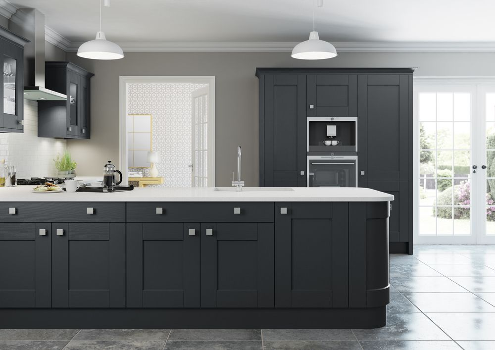 Best Shaker Painted In Charcoal Kitchen Paint Charcoal 400 x 300