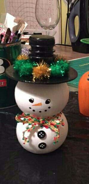 Pom Bottle Snowman So Easy So Cute My Completed Project
