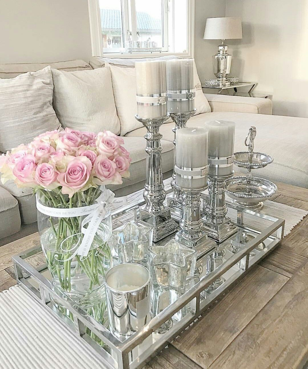 Are You A Fan Of Silver Maison Valentina Presents You With Some Inspirations For The Heart Of Your Home See M Table Decor Living Room Living Decor Room Decor #silver #tables #for #living #room