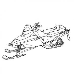 Snowmobile Drawings Sketch Coloring Page Drawings Coloring