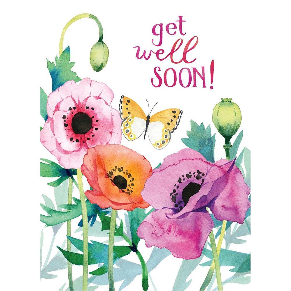 Get Well Soon Watercolor Card Heatherlee Chan Watercolor Cards