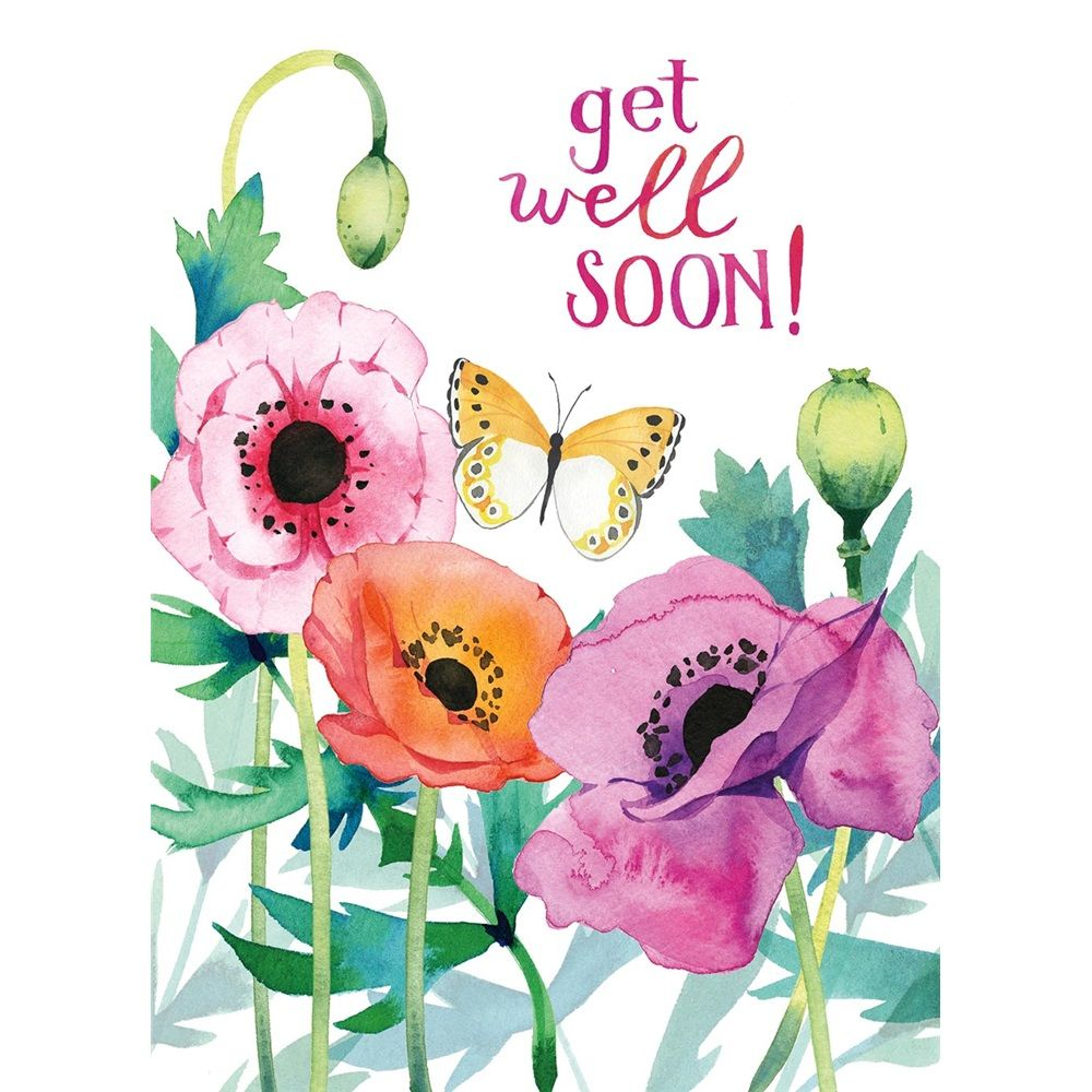 Get Well Soon Watercolor Card Heatherlee Chan Watercolor Cards