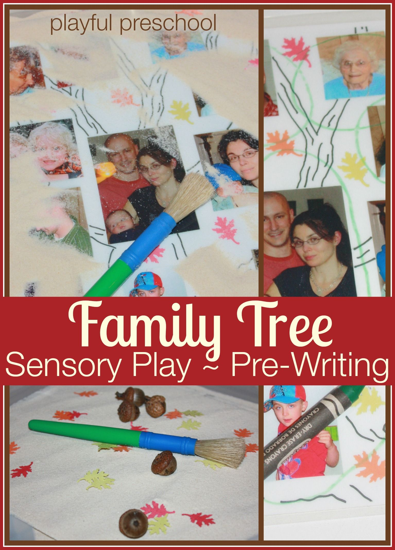 My Family Tree Activity For Kids Sensory Play And Pre