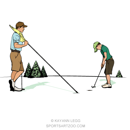 Father Son On Putting Green Sportsartzoo Father And Son Best Golf Clubs Sports Art