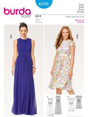 Kleid – Abendkleid – doppellagig – Taillenblende Schnittmuster ...