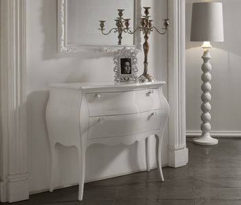commode d 39 entr e design 2 tiroirs blandine coloris blanc. Black Bedroom Furniture Sets. Home Design Ideas