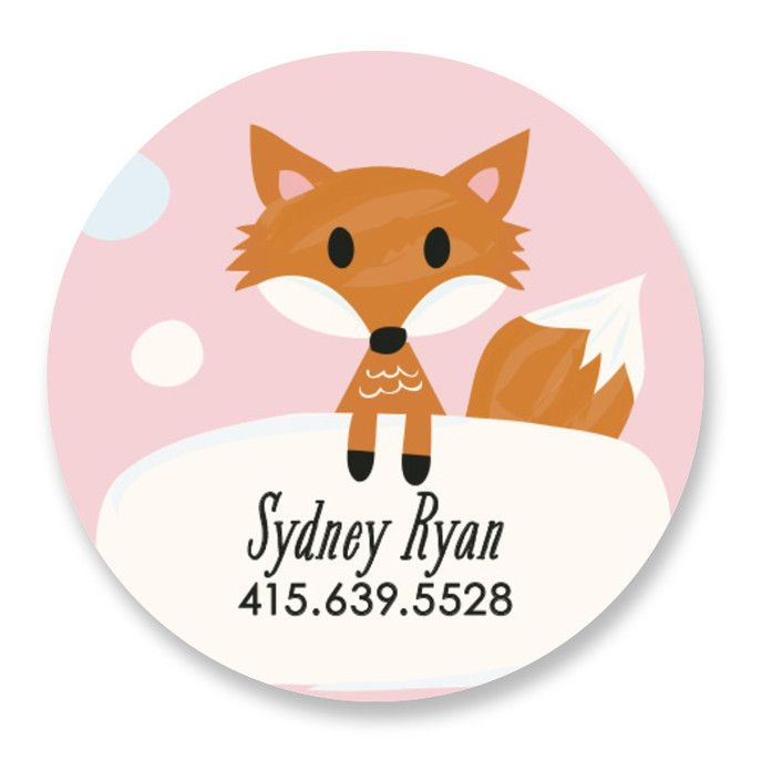 Fox Friend   Products   Name labels, Custom labels, Names
