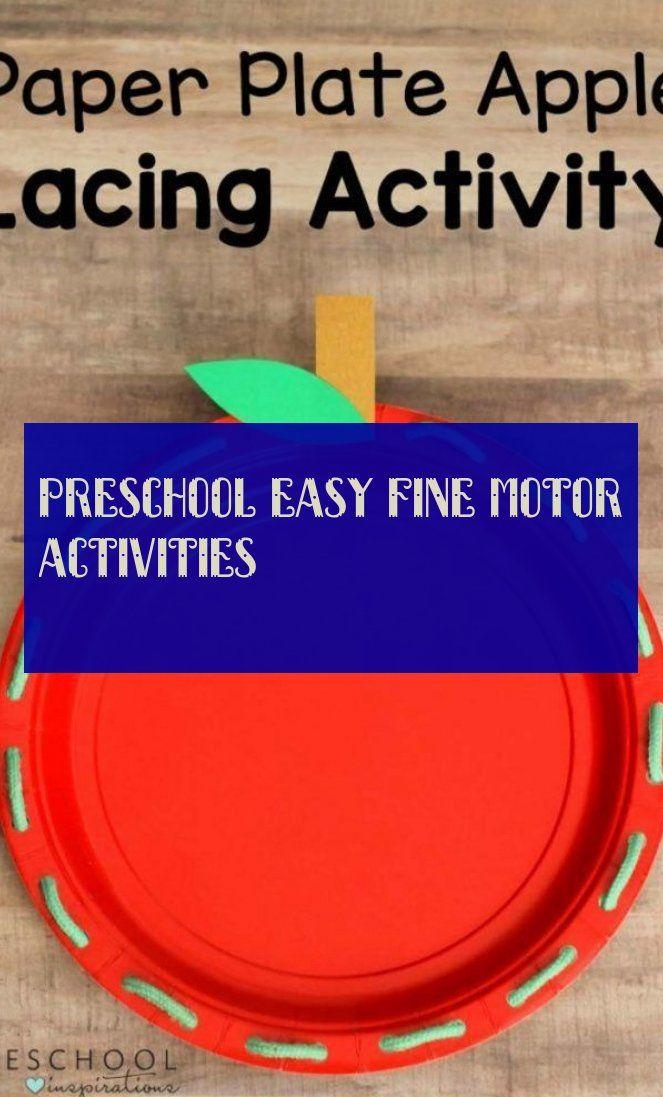 Preschool easy fine motor activities