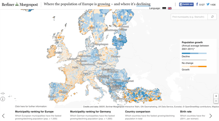 An interactive map of Europe has been compiled with census ... on interactive data map, interactive voting map, interactive migration map, interactive immigration map, interactive civil war map, interactive cemetery map, interactive demographic map, interactive weather map, interactive sports map, interactive church map, interactive building map, interactive crime map,