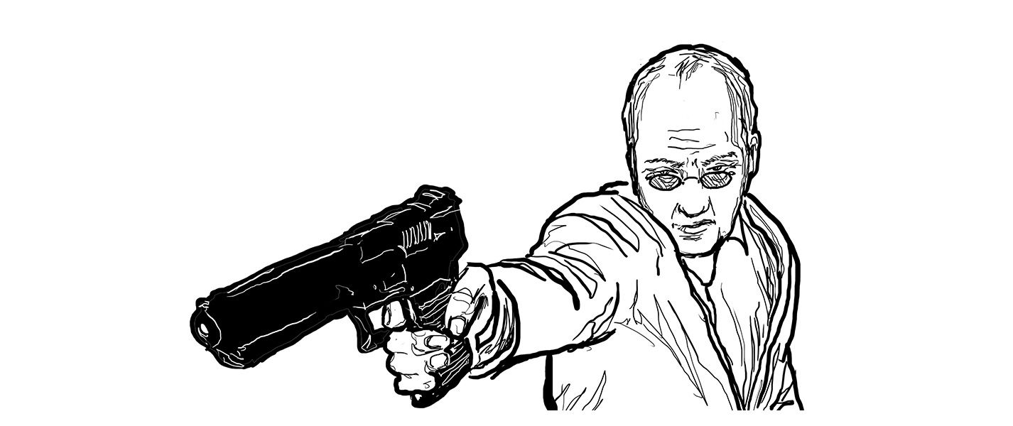Dr. Phelps with gun. Miserable Americans book 2